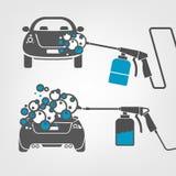 Car wash image Stock Photography
