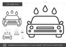 Car wash line icon. Stock Image