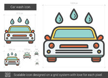 Car wash line icon. Royalty Free Stock Photo