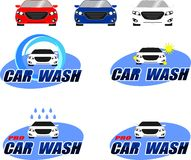 Car wash logo. Proposals logos for car washes. The project saved an editable vector Royalty Free Stock Image