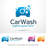 Car Wash Logo Template Design Vector Royalty Free Stock Photo