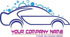 Car wash logo. A vector drawing represents car wash logo design Stock Photos