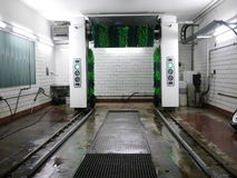 Car Wash. A modern and automatic car wash system stock photos