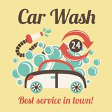 Car wash poster Royalty Free Stock Photos