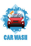 Car Wash Poster Stock Photo