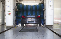 Car wash in progress Royalty Free Stock Image