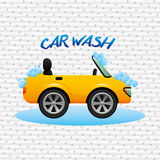 Car wash service design. Car wash design,  illustration eps10 graphic Royalty Free Stock Photos