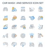 Car wash icon. Car wash and service icon set royalty free illustration