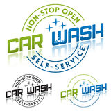 Car Wash. Service Logo or Label Template stock illustration