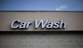 Car Wash Sign. Close-up of commercial car wash sign Stock Images