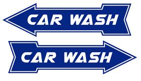 Car Wash Sign Arrow Pointing Way. Car Wash Sign Pointing Way Blue White Directional Notice Post Fund Raiser Fundraising royalty free illustration