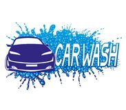 Car wash sign. Car wash sign with water splash on a white background royalty free illustration