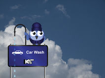 Car wash Sign Stock Photo