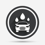 Car wash sign icon. Automated teller. Water drop. Royalty Free Stock Photo