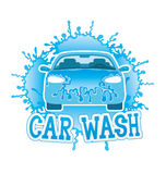 Car wash. Sign isolated on white background Royalty Free Stock Photography