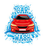 Car wash. Sign isolated on white background stock illustration