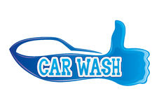 Car wash sign. Royalty Free Stock Images