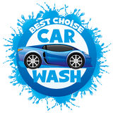 Car wash sign. Vector illustration of car wash sign on white background Stock Photo