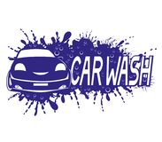 Car wash sign with water splash. Car wash sign with water splash on a white background stock illustration