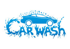 Car wash sign. Car wash sign on a white background Stock Photo