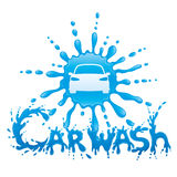 Car wash sign. Car wash sign on a white background Royalty Free Stock Image