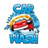 Car wash sign. Royalty Free Stock Photo