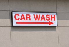Car wash signage Royalty Free Stock Images