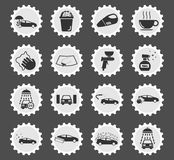 Car wash simply icons Royalty Free Stock Photo