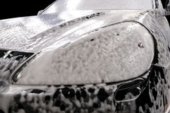 Car wash with soap. Stock Photo