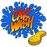 Car Wash Splat. A vector illustration of a Car Wash sign stock illustration