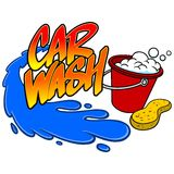 Car Wash Spray Stock Image