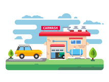 Car wash station Royalty Free Stock Image