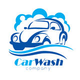 Car wash stylized vector symbo. L, design elements for logo template Royalty Free Stock Photography