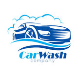 Car wash stylized vector symbol. Design elements for logo template Stock Images