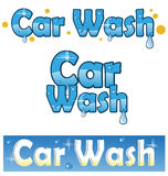 Car wash. Symbol car wash service project vector illustration