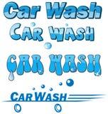 Car wash symbol set isolated on white Stock Images