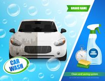 Car Wash System Advertisement stock illustration