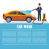 Car wash template Royalty Free Stock Photography
