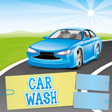 Car wash. Royalty Free Stock Photo