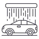 Car wash vector line icon, sign, illustration on background, editable strokes. Car wash vector line icon, sign, illustration on white background, editable royalty free illustration