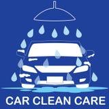 Car wash vector. Sign banner vector illustration