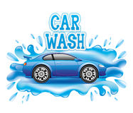 Car wash. Vector sign on white. Car wash royalty free illustration