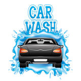 Car wash. Vector sign  on white background. Car wash Royalty Free Stock Photography