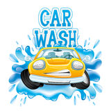 Car wash. Vector sign  on white background. Car wash Stock Photo