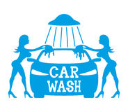 Car wash. Vector sign  on white background. Car wash Stock Photography