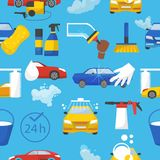 Car wash vector car-washing service with people cleaning auto or vehicle illustration set of car-wash and characters vector illustration