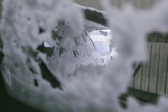 Car wash, view from the inside Stock Photography