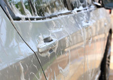 Car wash with water Stock Photos