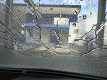 Car-Wash Water Swirl Stock Photo
