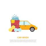Car wash web illustration Stock Photos